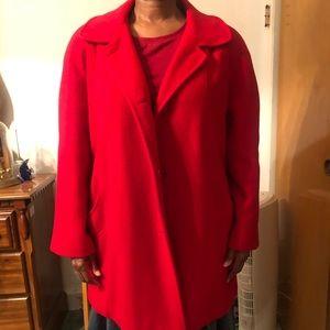 Red winter coat-like new